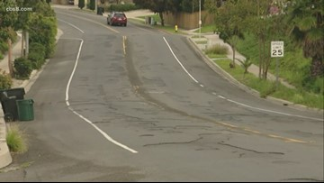 Bay Park street in disrepair after paving work