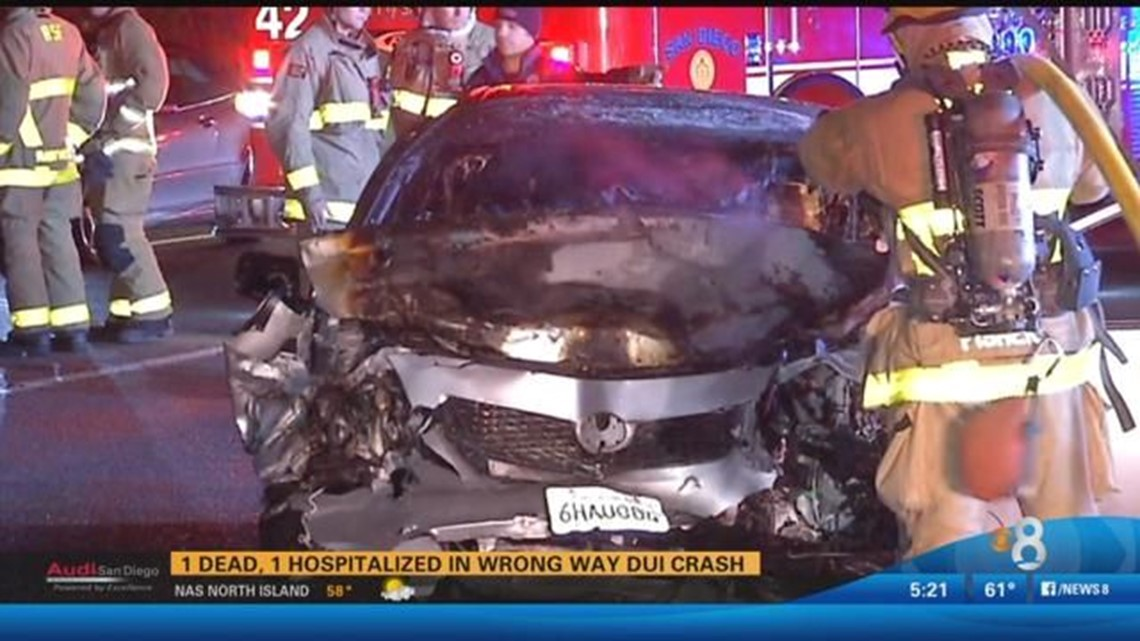 1 dead, 1 hospitalized in wrong way DUI crash