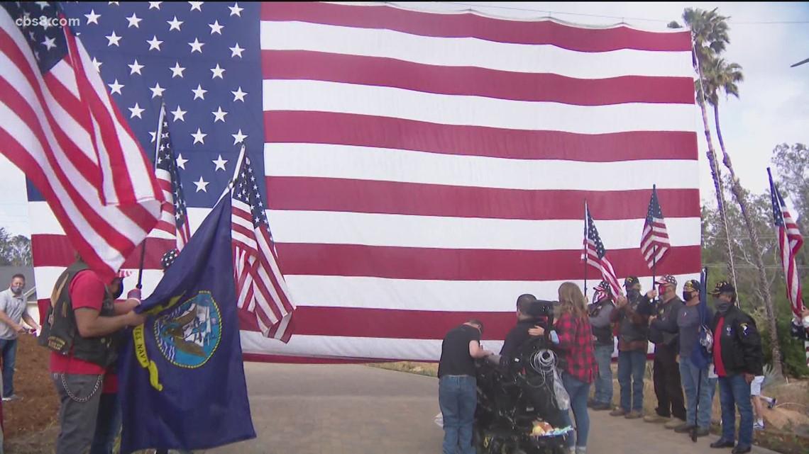 Deserving war hero, family of 6 gets keys to new Poway home