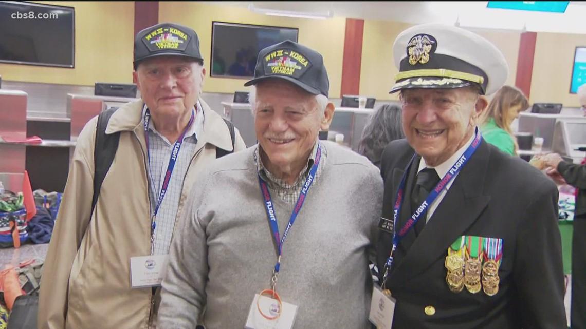 Honor Flight San Diego hosts Spirit of '45 celebration