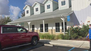 Pets go into clinic, while owner waits in car