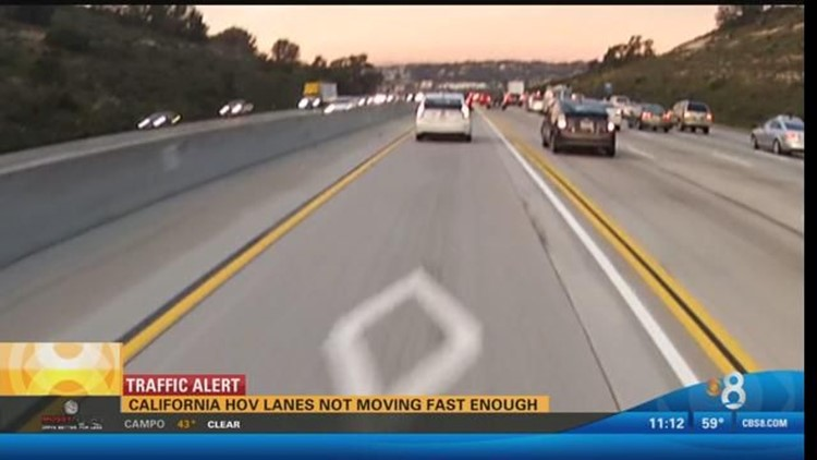 Whats An Hov Lane Caltrans State Of California >> California Hov Lanes Not Moving Fast Enough Cbs8 Com