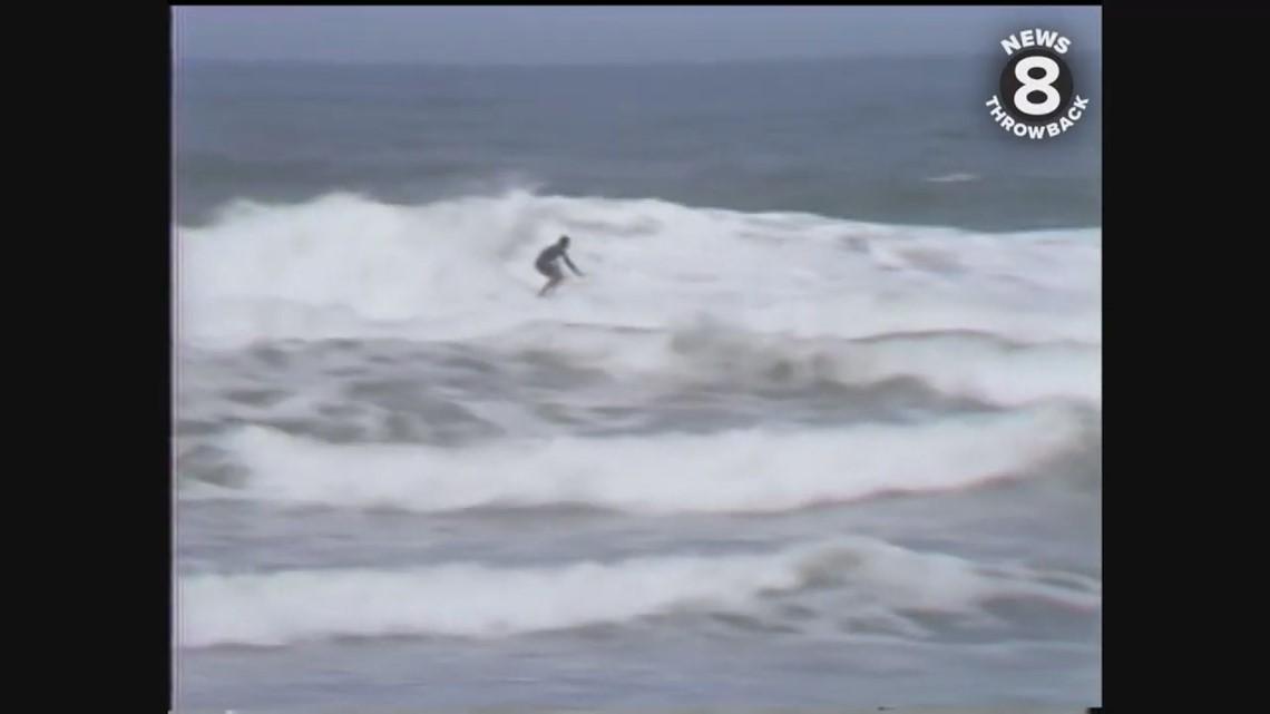 Surfing contest at La Jolla Shores 1979