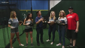 #UpWith8 morning team trains for first pitch