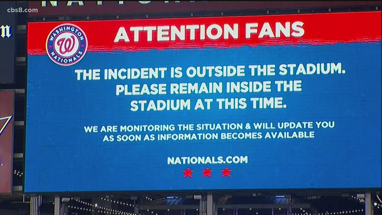 Fans sent scurrying after a triple shooting outside Padres game versus the Washington Nationals