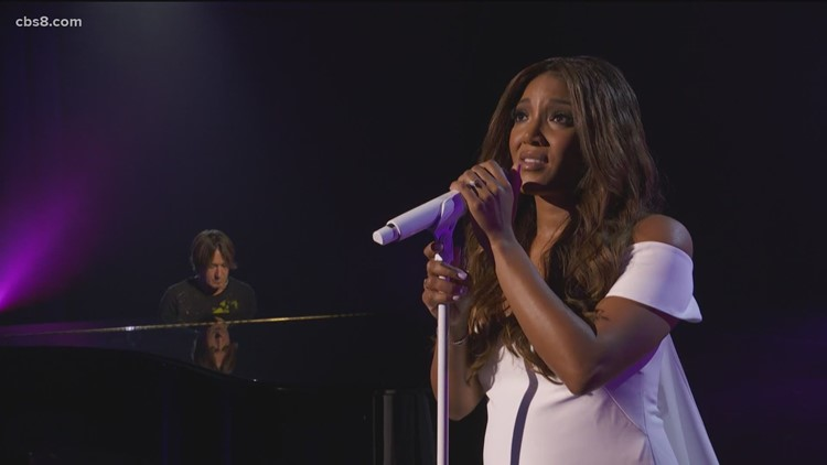 Country music artist Mickey Guyton talks about co-hosting ACM Awards
