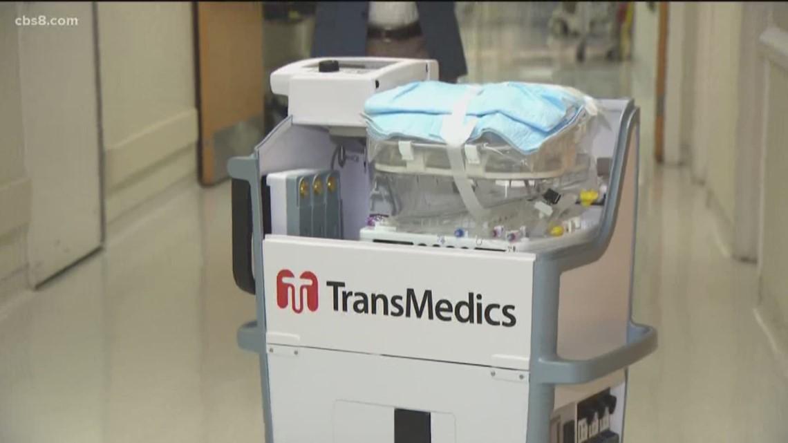 Scripps Hospital unveils new organ transplant delivery method