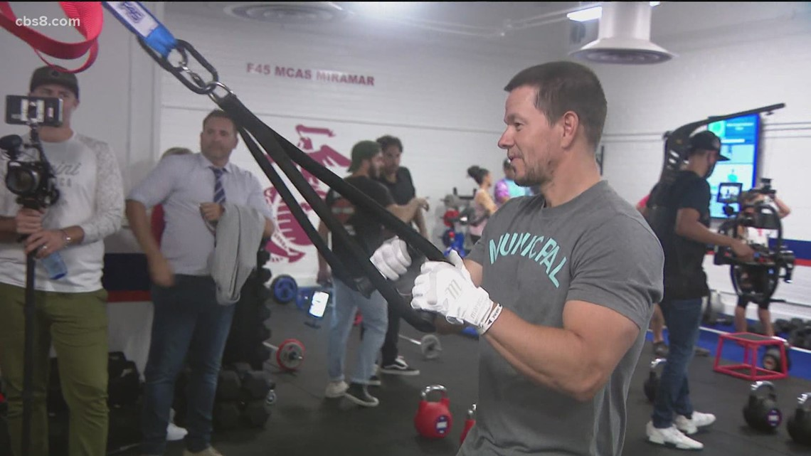 Actor Mark Wahlberg on hand for new gym opening on MCAS Miramar