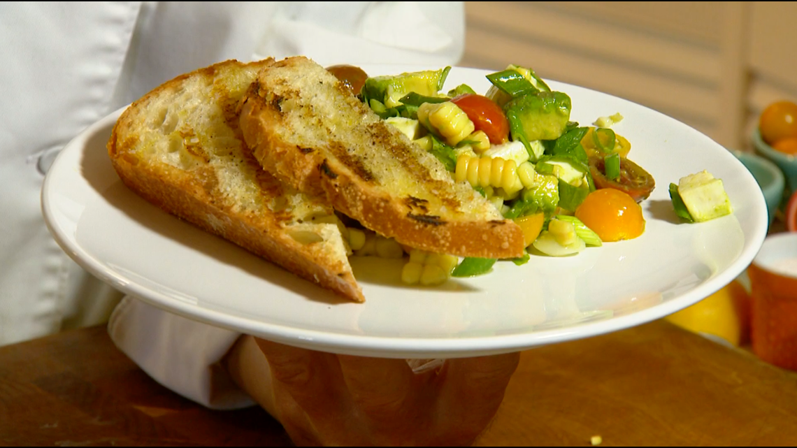 Cooking with Styles: Corn Caprese Salad
