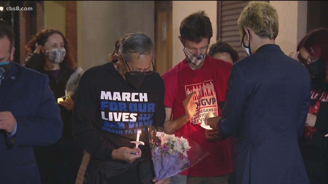 Vigil held in Gaslamp to honor last week's shooting victims