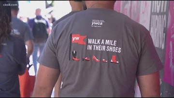 San Diegans Walk a Mile in Their Shoes to raise awareness of domestic violence