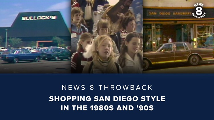News 8 Throwback: Shopping San Diego style in the 1980s and '90s