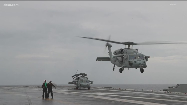 Crashed Navy helicopter, bodies of 5 crew, recovered from ocean floor off San Diego