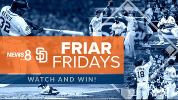 Watch and win on 'Friar Fridays' with News 8 and the San Diego Padres