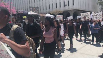 San Diego State students rally after targeted break-in at Black Resource Center