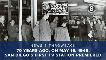 News 8 Throwback: 70 years ago, on May 16, 1949, San Diego's first TV station premiered