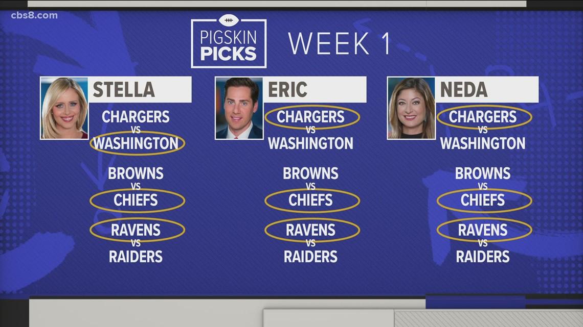 CBS 8 morning anchors share their Pigskin Picks for Week 1