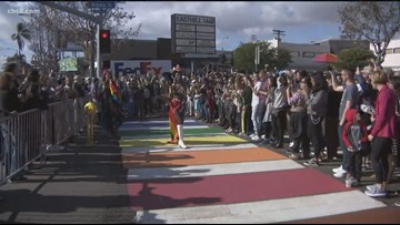 San Diego unveils first rainbow crosswalk in Hillcrest