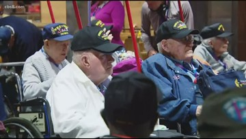 Honor Flight: San Diego WWII and Korean War veterans head to Washington D.C. for trip of a lifetime