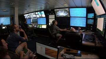 Control room studying underwater site