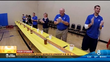 Escondido kids make world's longest PB&J