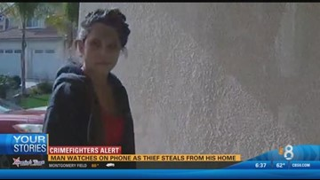 Thief caught on camera stealing from Escondido home