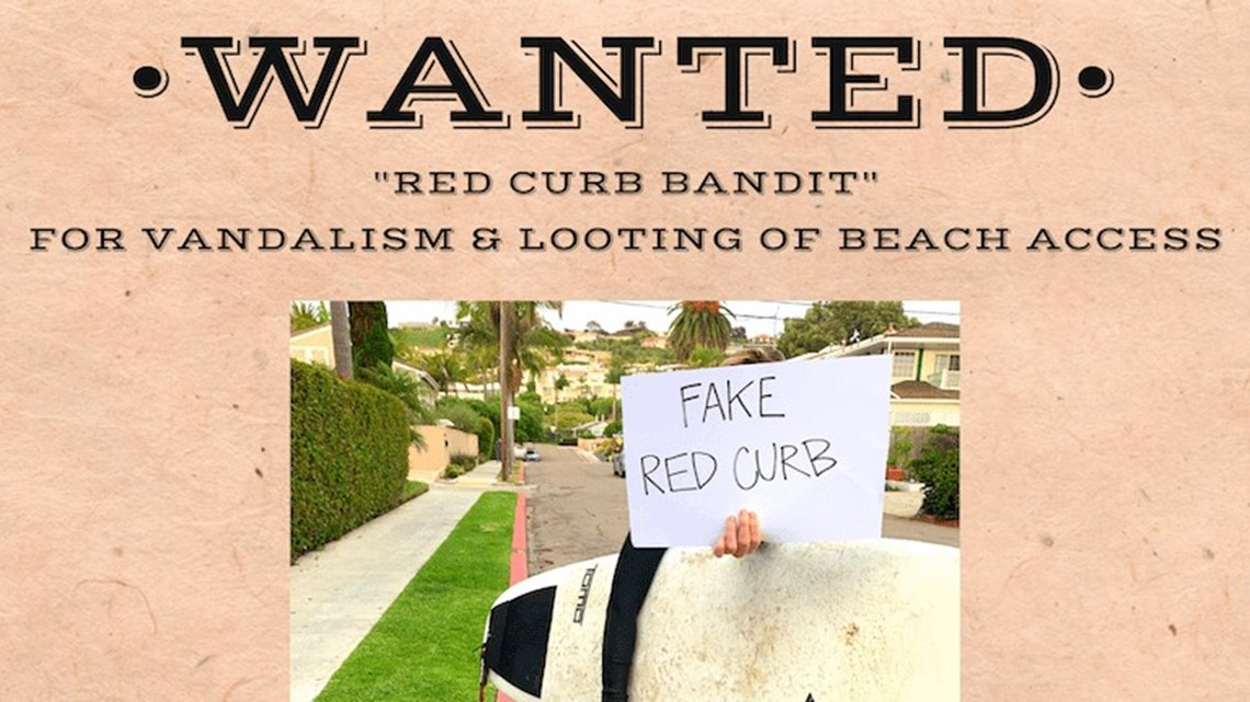 'Red curb bandit' bumming out surfers in La Jolla