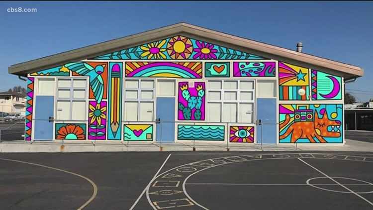 Innovate 8: Paradise Hills students paint mural virtually
