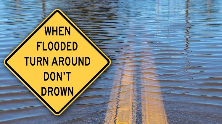Winter storm floods San Diego roads