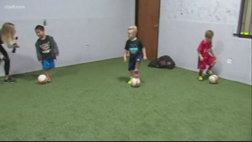Kids of all ages learn to play soccer at Momentum Training Center