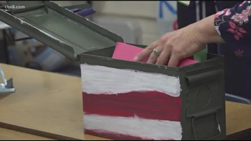 St. Francis of Assisi's students in Vista fill ammo boxes to support San Diego Marines