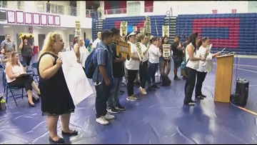 Parents and students protest Sweetwater School District budget cuts