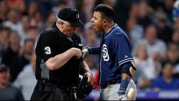 Padres' Machado suspended 1 game, fined after ejection