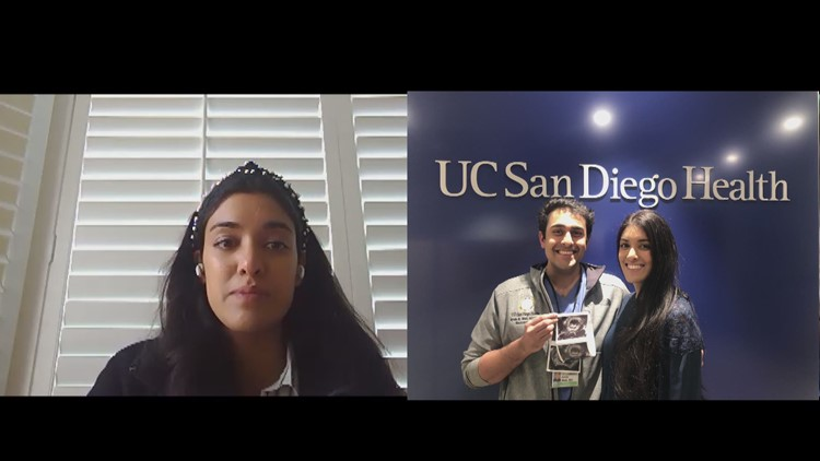 UCSD grads and health care workers live apart while treating patients and expecting first baby