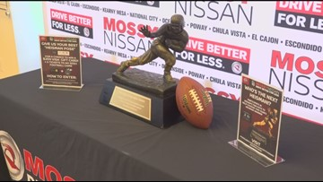 Where to see the Heisman Trophy in San Diego County