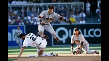 Maxwell, Giants beat Padres 1-0 in 12 innings