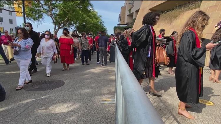 SDSU kicks off in-person commencement ceremonies at Petco Park