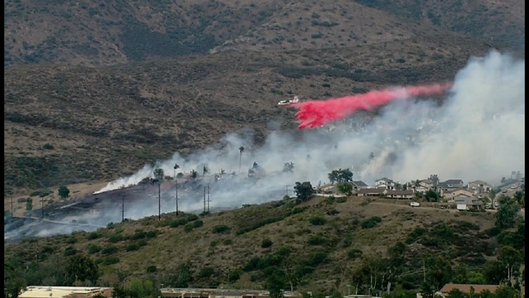 Fire in Rancho San Diego stopped at 15 acres
