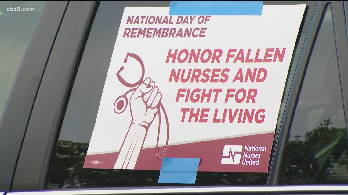 Vigil held during 'Nurses Week' to honor nurses that died from coronavirus