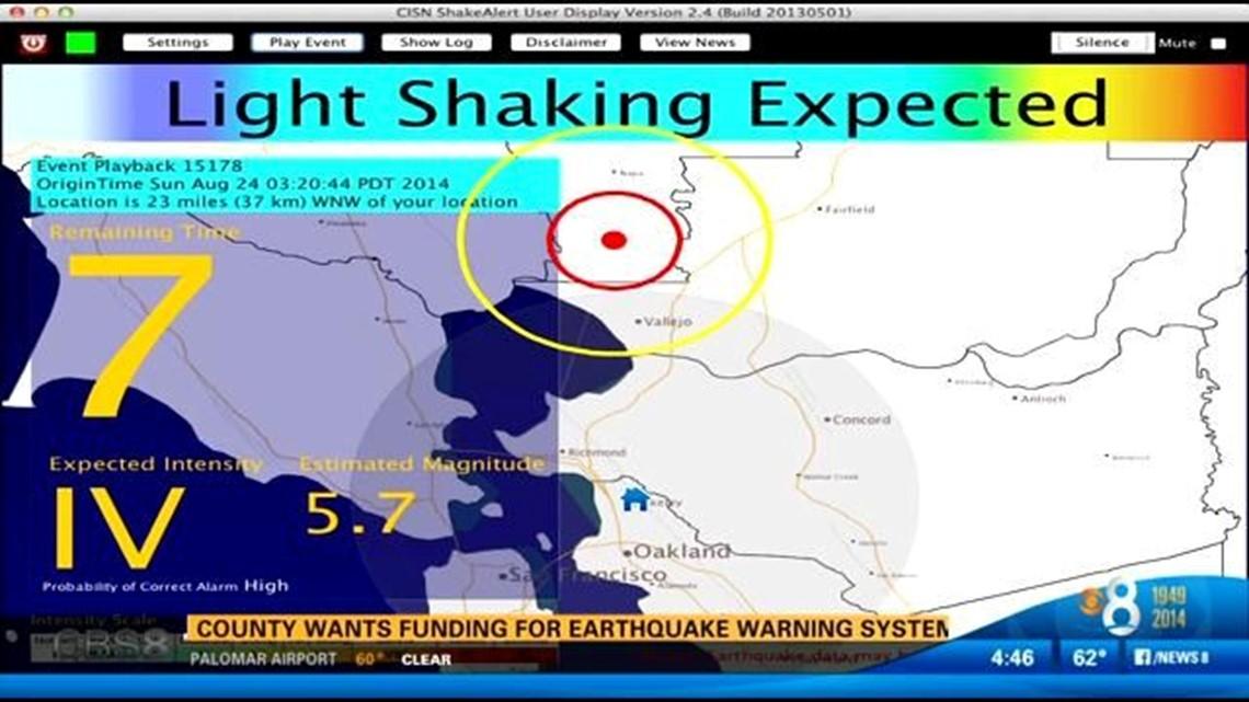 Supervisors want more quake detection station funding | cbs8.com on