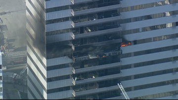 High-rise fire erupts at residential building in LA, several injured