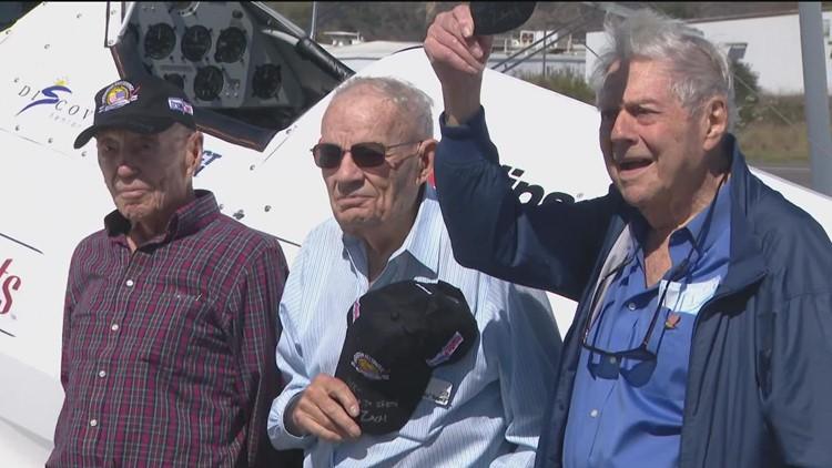 Dream flights for 3 lucky veterans in a WWII-era open cockpit biplane