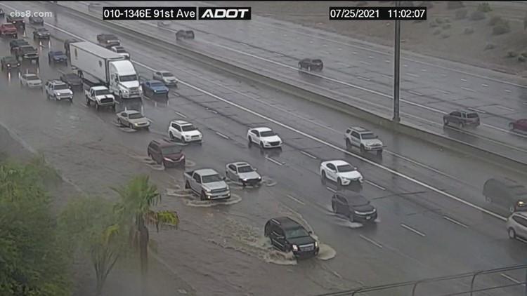Monsoon rains soak parts of San Diego