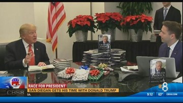 Mike Slater gets his time with Donald Trump