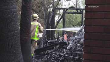 2 Firefighters Injured When Burning Section of El Cajon Home Collapses on Them