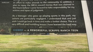 "Apology letter from Scripps Ranch teen appears in ""The Voice"" newsletter"