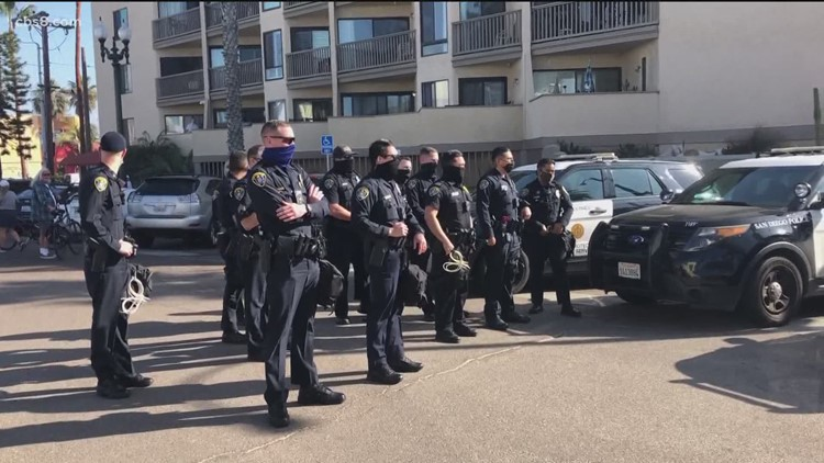 Antifa, Black Lives Matter and Trump supporters clash in Pacific Beach, unlawful assembly declared