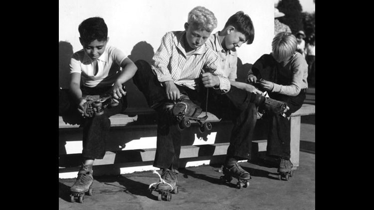 Roller skating in the 1930s at the California Pacific International Exposition