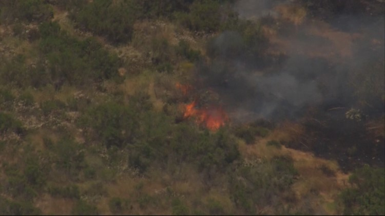 Firefighter injured while fighting brush fire in Sabre Springs