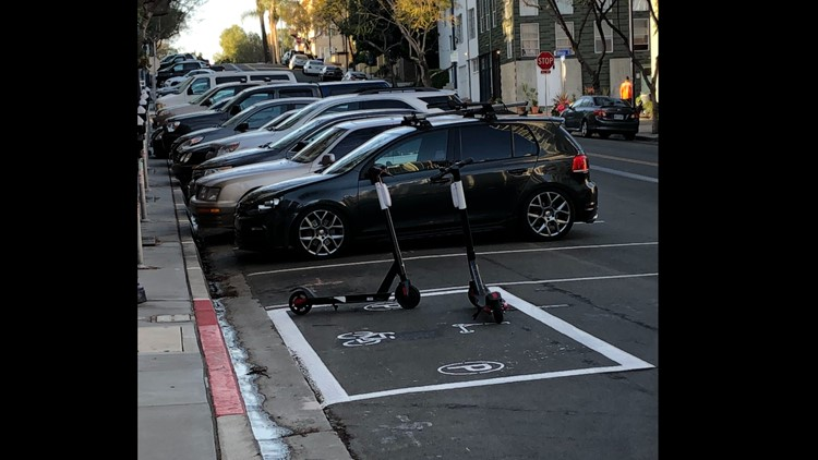 Scooter parking corrals